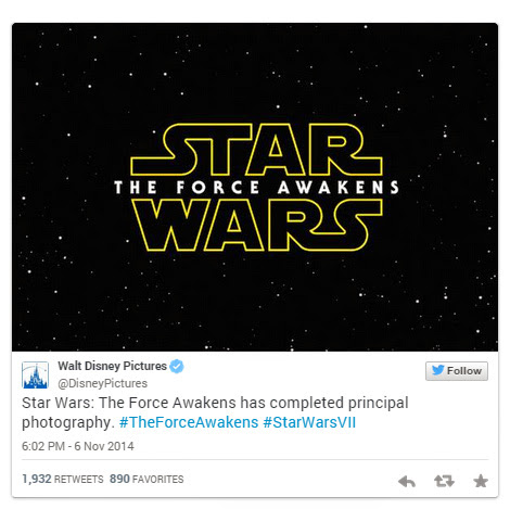 Star Wars 7: The Force Awakens - Official Title Revealed!
