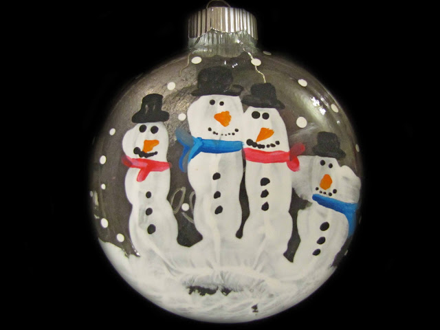 Snowman Handprint Christmas Ornament