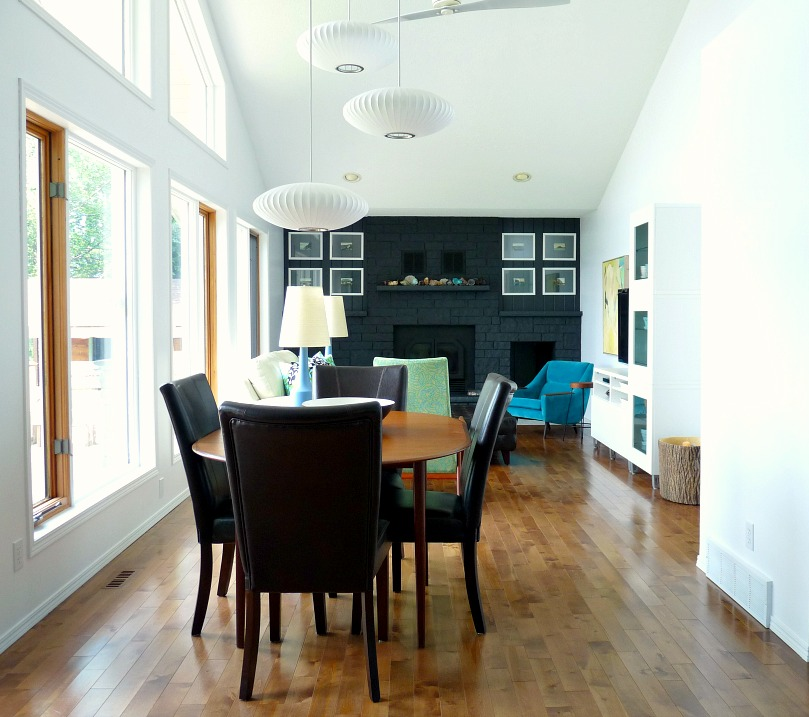 Dining Room Before - Brown Vinyl Chairs