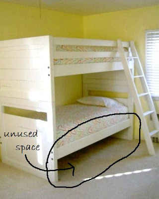 bunk beds with unused space