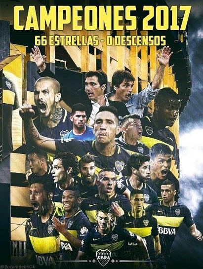 Resultado de imagen para boca campeon 2017