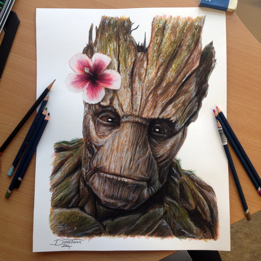 16-Groot-Color-Guardians-of-the-Galaxy-Dino-Tomic-AtomiccircuS-Drawing-Painting-Tips-and-Digital-Art-www-designstack-co