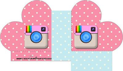 Caja abierta en forma de corazón de Fiesta de Instagram.