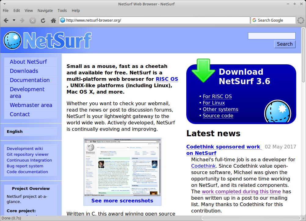 NetSurf: navegador web multiplataforma, que no consume mucha memoria RAM - El Blog de HiiARA