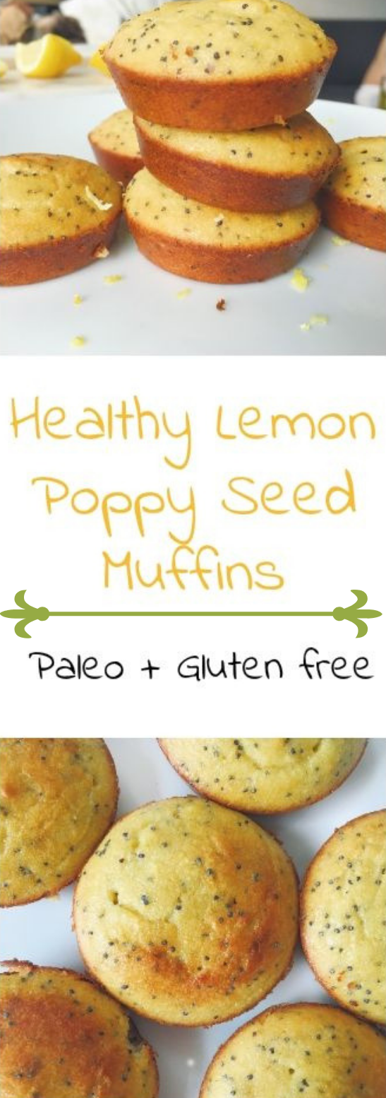 HEALTHY LEMON POPPY SEED MUFFINS #dessert #muffins