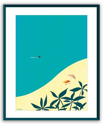 Clod illustration Seul au bord de la mer