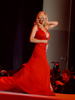 Pamela Anderson Walking On Ramp