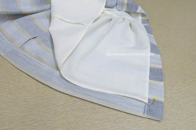 vestido rayas horizontales gris-beige