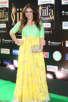 Sridevi Telugu Actressi in green Yellow Anarkali Dress at IIFA Utsavam Awards 045.JPG