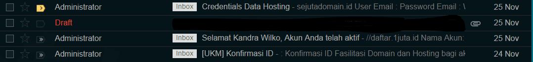 dapat domain dan hosting gratis dari program satu juta id kominfo