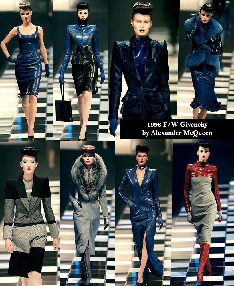 Coleção de Alexander McQueen, 1998, para a casa Givenchy