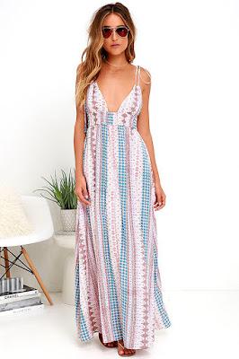 diseños de Vestidos largos casuales