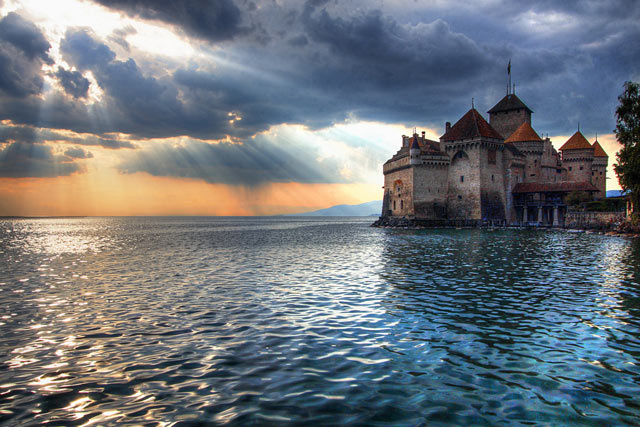 Lake Geneva, France and Switzerland