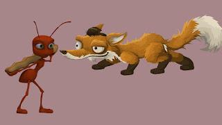 قصة الثعلب والنملة