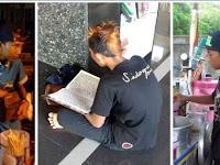 Meski Gaya Rambut 'Mohawk', Tapi Penjual Cilok ini Selalu Baca Alqur'an Bahkan Hafal 25 Juz
