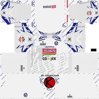 Arema FC 2019 Kit Liga 1- Dream League Soccer Kits