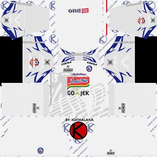Arema FC 2019 Kit Liga 1- Dream League Soccer Kits