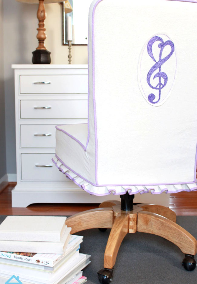 how to make a swivel chair slipcover