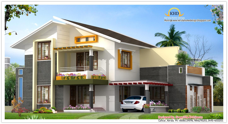 3d Brick Wallpaper South Africa Beautiful Villa Elevation 1850 Sq Ft Kerala Home