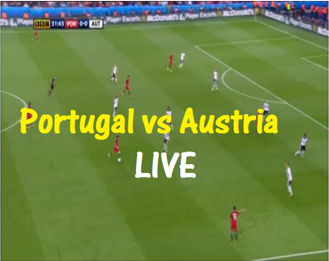 Portugal vs Austria Euro Cup 2016 Live Streaming/Banner