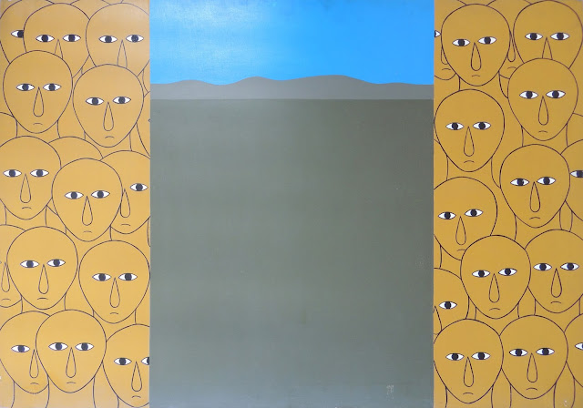 Antonio Maia arte latinoamericano pintura al contemporáneo, denuncia social cabezas caras
