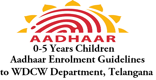 0-5 Years Children Aadhaar Enrolment, Guidelines,WDCW Telangana