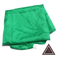 kain silk hijau