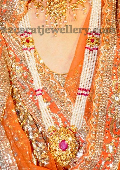 Pearls Rich Rani Haram Jewellery Designs