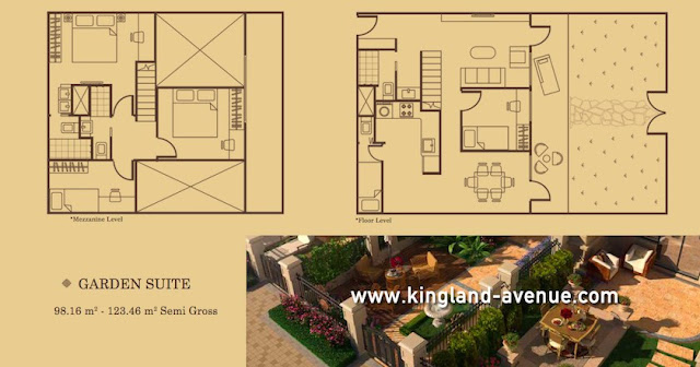 Kingland Avenue Serpong Apartment Garden Suite