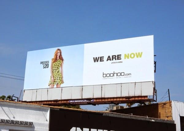 We Are Now Boohoo Online Fashion Billboard