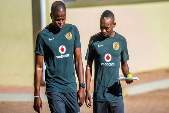 Willard Katsande and Khama Billiat Kaizer Chiefs players