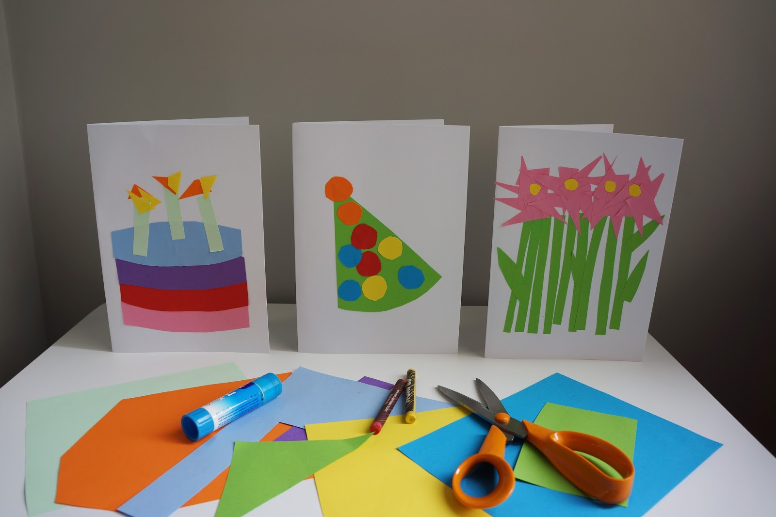 3 easy birthday card designs to craft with toddlers