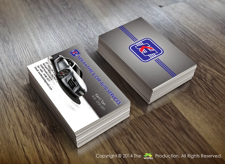 Business Card Design New Kh Tyre Car Auto Services