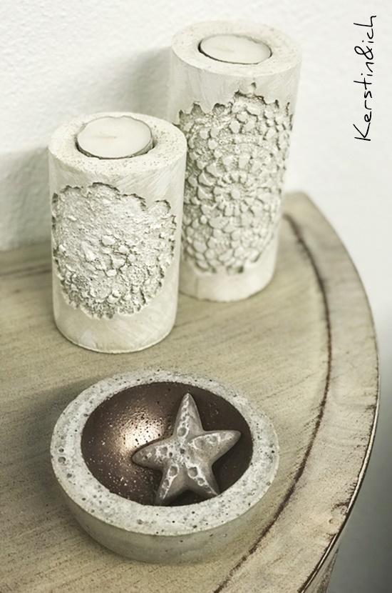 Beton Betonideen Deko Hunsrück Kerzenständer