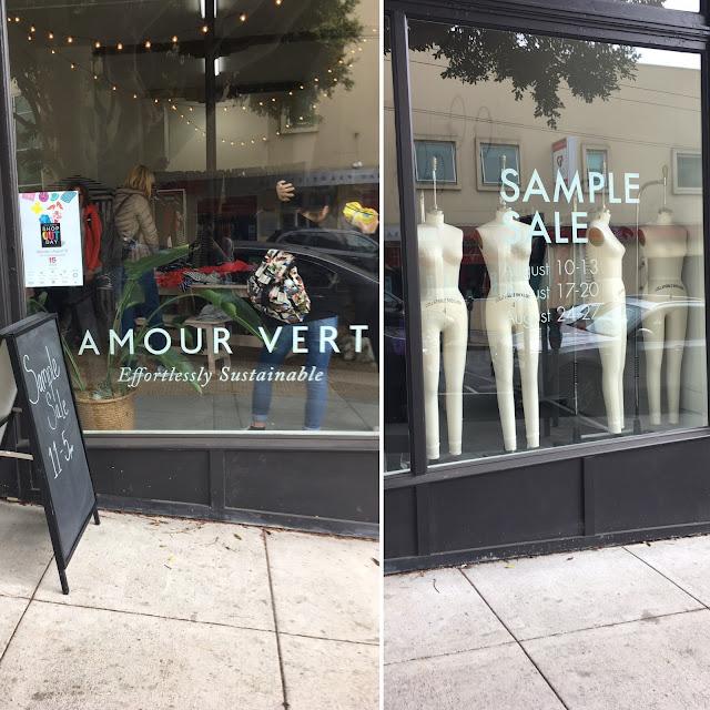 Amour Vert Sample Sale 2017