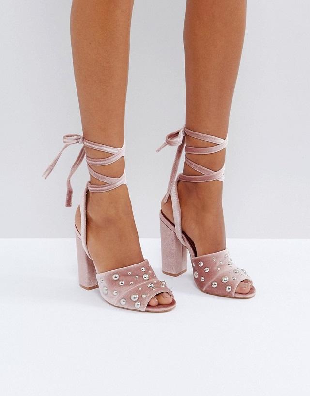 sandalia terciopelo rosa novia zapato blog atodoconfetti