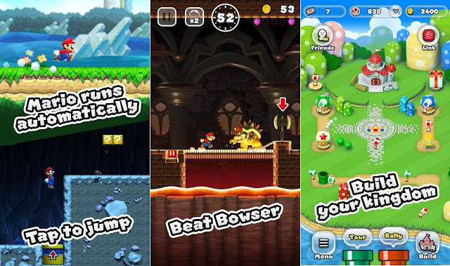 Tampilan Game Super Mario Run