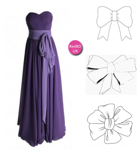 Chiffon Sweetheart Ruched Bodice Long Bridesmaid Dress with Sash