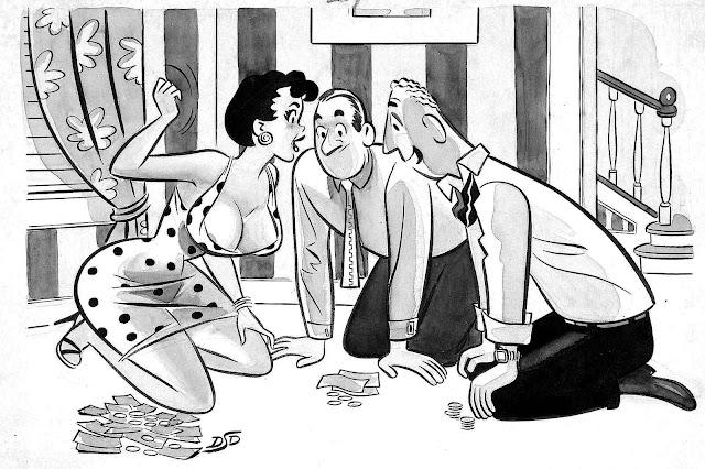 Dan Decarlo cartoon about sexy gambling