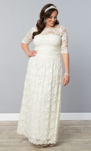 Curvy Plus Size Wedding Dresses Sleeves | wedding bridal trend