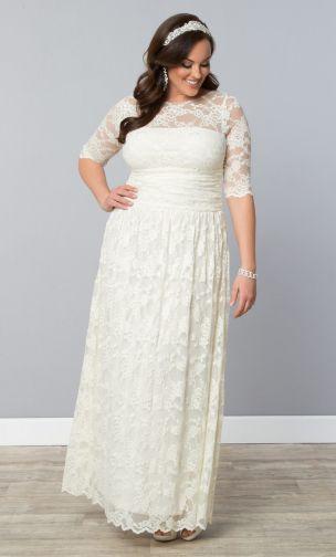 Curvy Plus Size Wedding Dresses Sleeves Wedding Bridal Trend