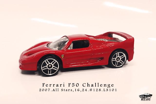 Garagem Hot Wheels Ferrari F50 Challenge