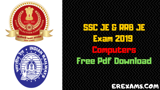 RRB JE, SSC JE 2019 Computers Notes & Books Pdf Download