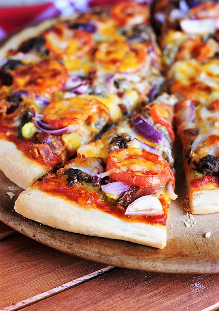 Bacon Cheeseburger Pizza recipe photo