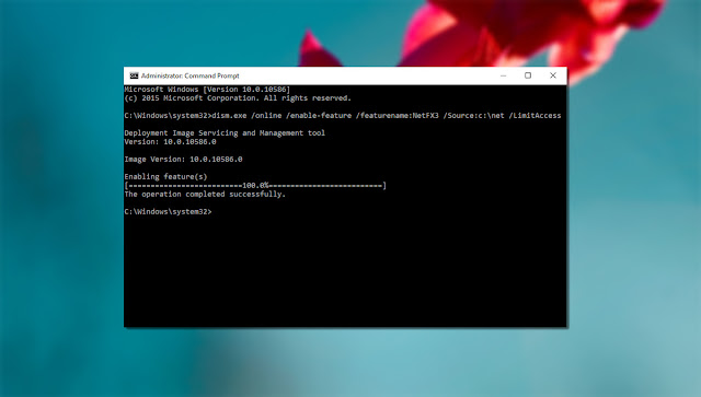 Cara Install DotNet 3.5 di Windows 8.1 & 10