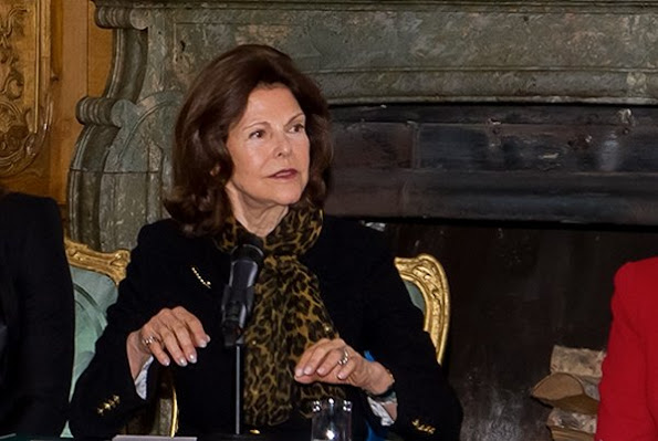 Queen Silvia of Sweden and Princess Sofia of Sweden attended a meeting held with the representatives of the organizations that endeavor to protect the rights of children