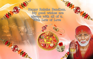Happy Raksha Bandhan with Sai Baba