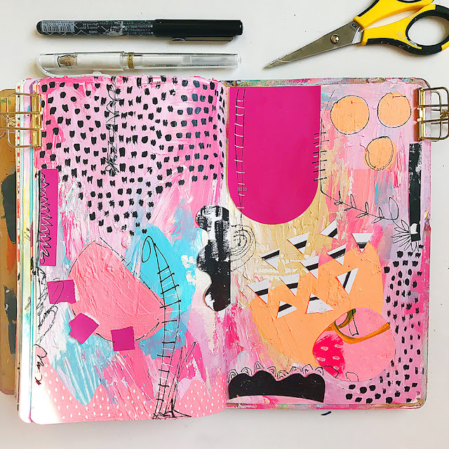 sketchbooks, Samantha Russo, Mixed Media, Sketchbook Conversations, My Giant Strawberry