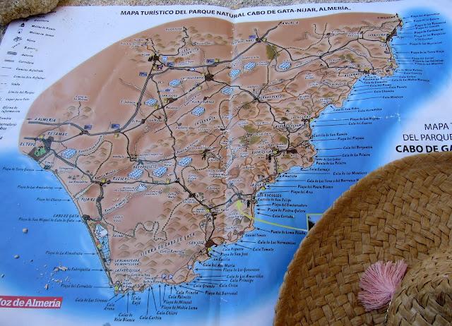 Plano del Parque Natural Cabo de Gata-Nijar