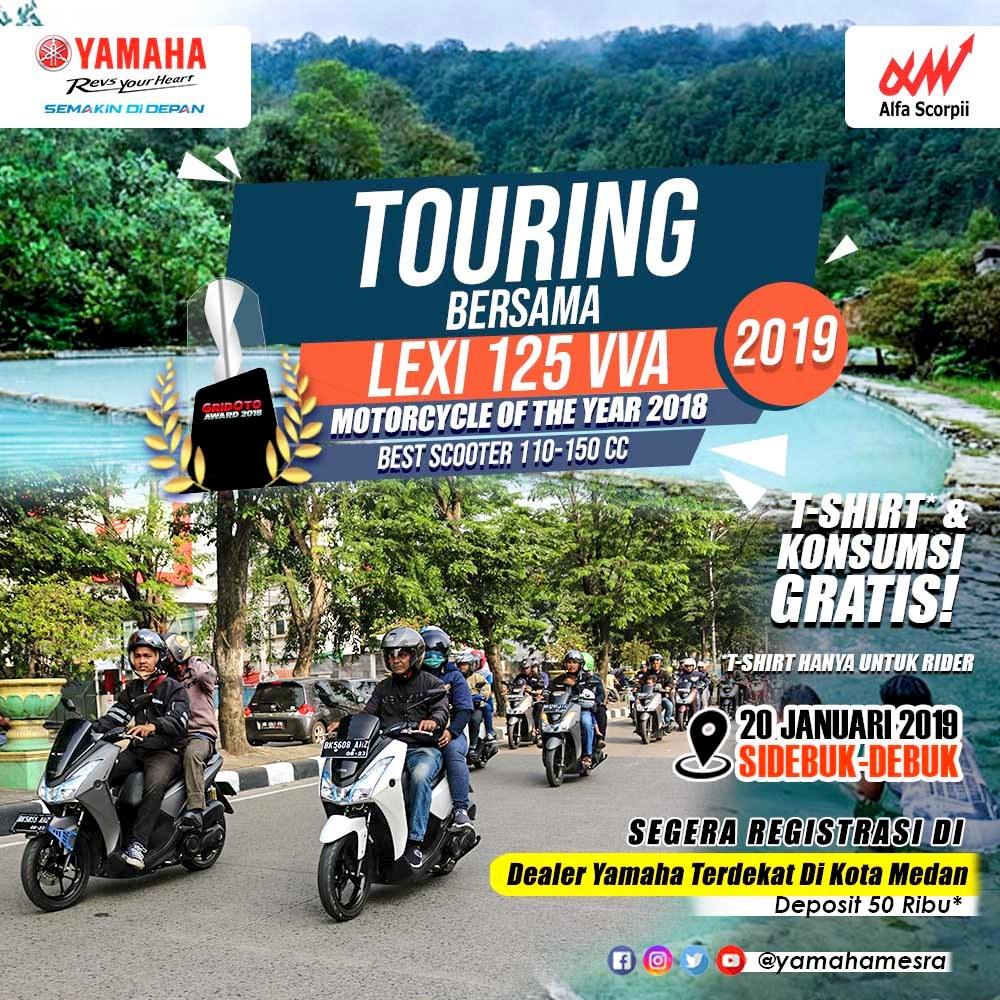 Yamaha Alfascorpii Medan kembali adakan Touring Lexi di awal 2019 dengan tujuan Sidebuk-Debuk !